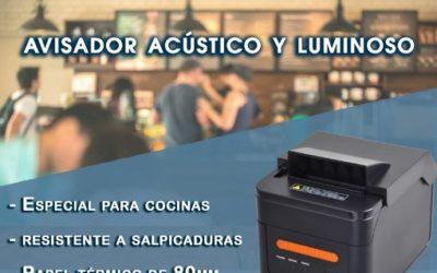 Impresoras con señal luminosa y acústica