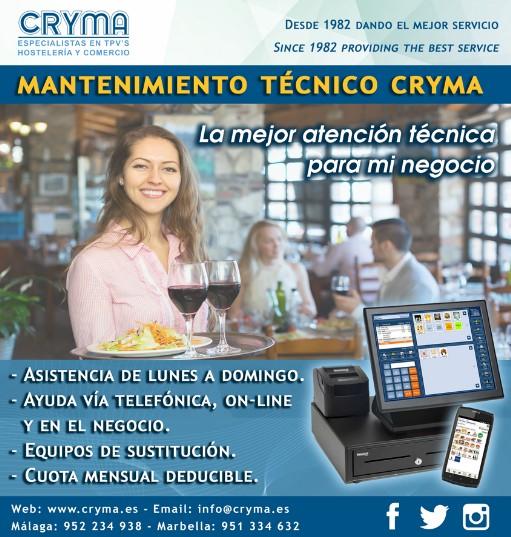 Servicio mantenimiento TPV Cryma