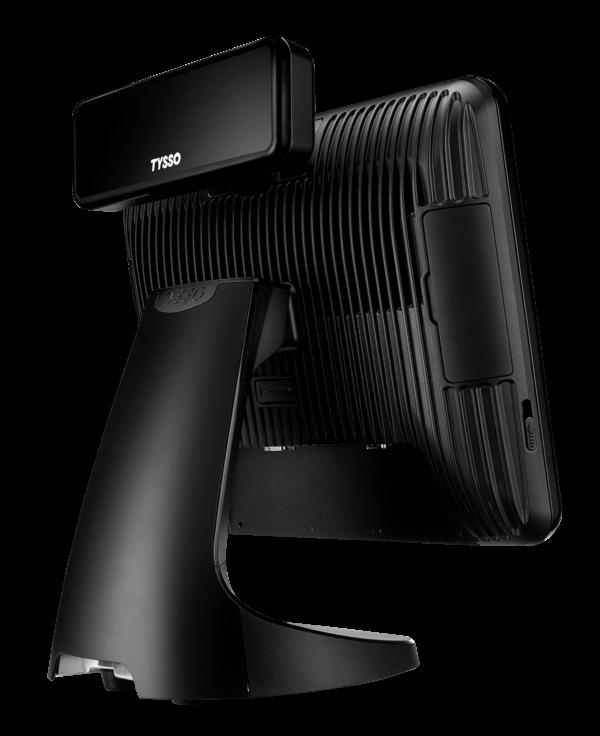 TPV TP-7715 TYSSO vista posterior lateral con visor