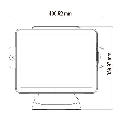 TP-2515 vista frontal con medidas
