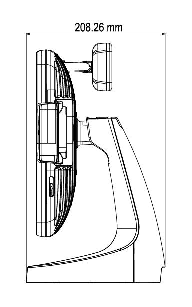 TP-7715 vista lateral medidas