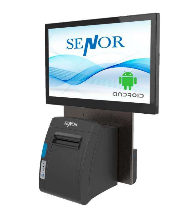 TPV Senor X1 montado en pared con impresora