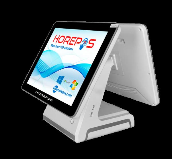 TPV HOREPOS TP-1190 con pantalla cliente trasera en blanco