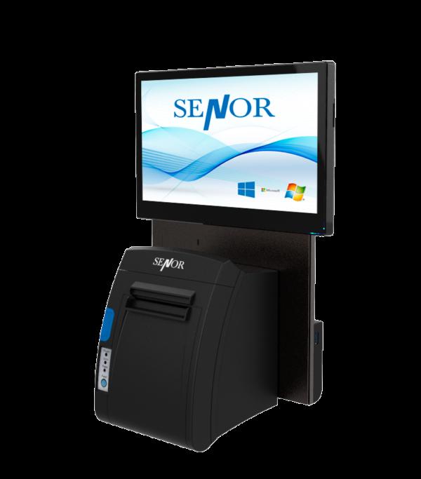 Senor S3 montado en pared con impresora incorporada