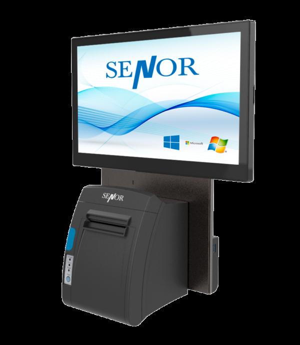 TPV Senor X3 montado en pared con impresora